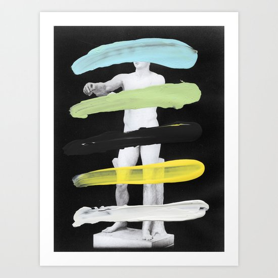 Untitled (Finger Paint 8) Art Print