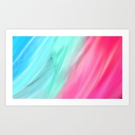 Blue Pink Art Print