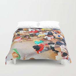 Wisdom of Crowds Duvet Cover