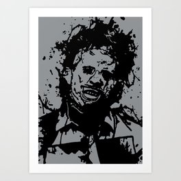 August 18, 1973: Bloodstain Leatherface (color combination F) Art Print
