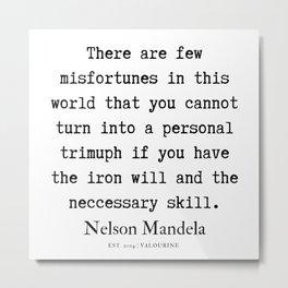 68  | Nelson Mandela  Quotes | 190818 Metal Print