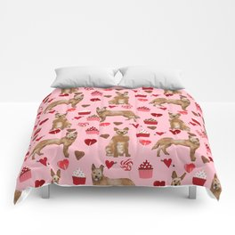 Australian Cattle Dog red heeler valentines day cupcakes hearts love dog breed gifts Comforters