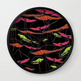 forest of the magic mushrooms at night  Wall Clock