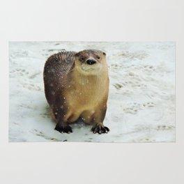 Snow otter Rug