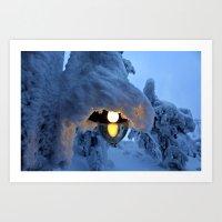 finland Art Prints featuring Winter in Finland by Guna Andersone & Mario Raats - G&M Studi