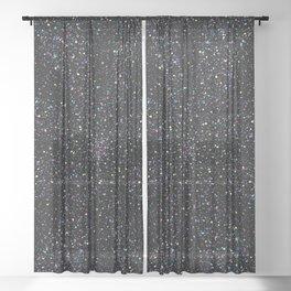 Magic Night Glitter Mandala I. Sheer Curtain
