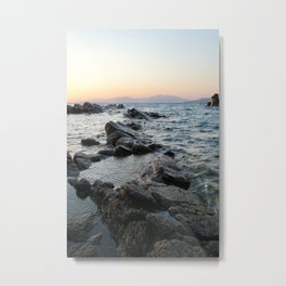 Rocks and Distant Mountains Metal Print