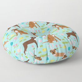 Boxer dog breed pet art easter spring dog gifts boxer dogs pure breed Floor Pillow