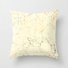 Marbled Cream Throw Pillow