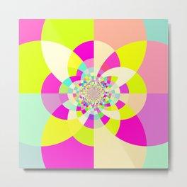 Bright & Pastel Kaleidoscope Metal Print