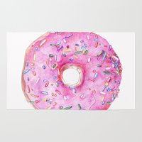 donut Area & Throw Rugs featuring DONUT!!!! by annelise johnson