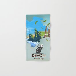 Devon England map Hand & Bath Towel