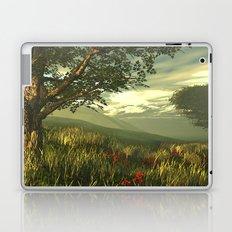 Summer tree in a poppy field Laptop & iPad Skin