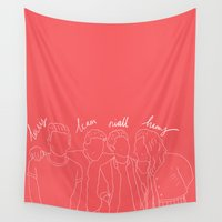 niall Wall Tapestries featuring louis/liam/niall/harry by worksbeautifully