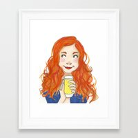 amy pond Framed Art Prints featuring Amy Pond Lemonade by Lena Lang