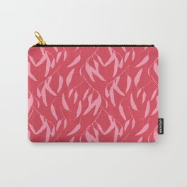 Leaf pattern, pink and red Carry-All Pouch