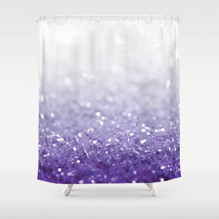 MERMAIDIANS PURPLE GLITTER Shower Curtain
