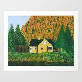 Maison jaune Art Print
