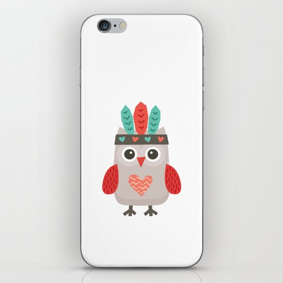 HIPSTER OWLET alternate version iPhone & iPod Skin