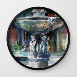 Spanish Fountain Wall Clock