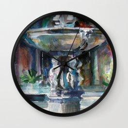 Spanish Fountain Wall Clock
