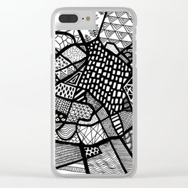 Manchester Map City Centre UK Clear iPhone Case