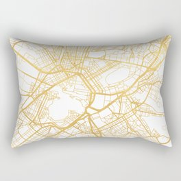 ATHENS GREECE CITY STREET MAP ART Rectangular Pillow