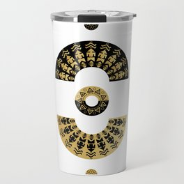 Ethnic symbol mandala  Travel Mug