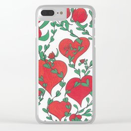 Hearts Bloom Clear iPhone Case