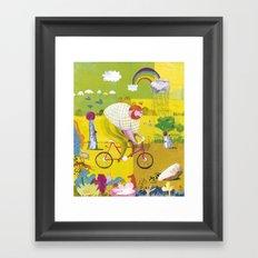 BYKE Framed Art Print