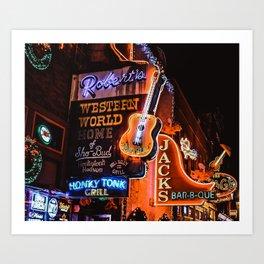 Christmas in Nashville Art Print