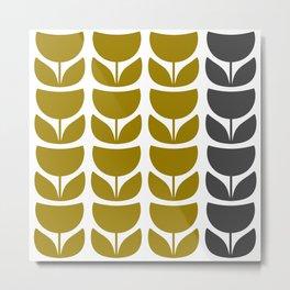 Retro Tulipa 1 Metal Print