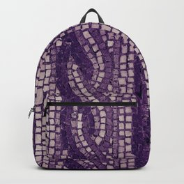 stone tile 4378 ultra violet Backpack