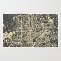 minneapolis Area & Throw Rugs featuring Minneapolis Map by Map Map Maps