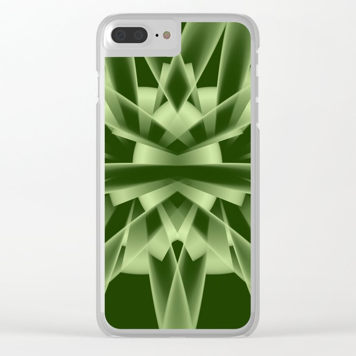 Abstract in green tones Clear iPhone Case