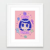 magical girl Framed Art Prints featuring magical girl by Caitlin Roberts