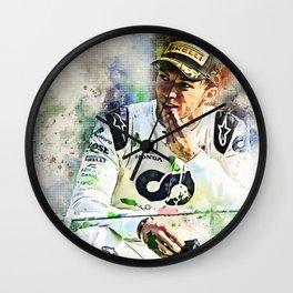 Pierre Gasly Wall Clock