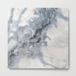 Gray Marble Texure Metal Print
