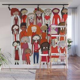Ladies in Red Wall Mural