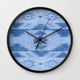 southwest weathered denim Wall Clock