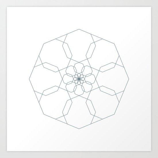 #405 Octangularity – Geometry Daily Art Print
