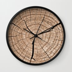 Tree Trunk Wall Clock