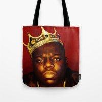 biggie Tote Bags featuring Biggie by I Love Decor