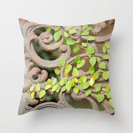Ironwork & Vine Throw Pillow