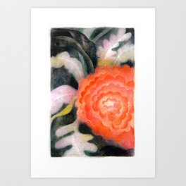 Fleur Rouge Art Print