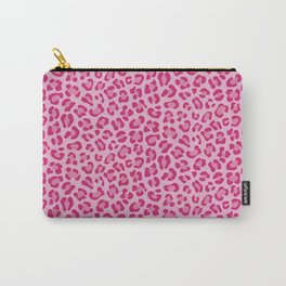 Leopard - Lilac and Pink Carry-All Pouch