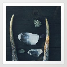 Pyrite and Light Art Print