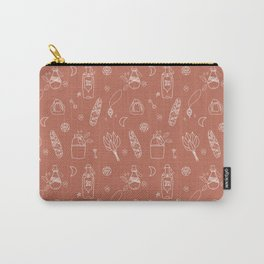 Not So Witchy Pattern Brown Carry-All Pouch