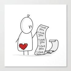 I Love You... A Lot. Canvas Print