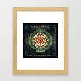 Maha Lakshmi (Laxmi) Mantra & Shri Yantra - Wealth Giving Framed Art Print
